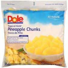 Dole 2 Pack case Pineapple Cubed 5 lb