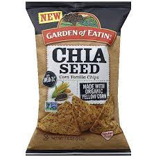 Garden Of Eatin 12 pack case Chips Yellow with Chia Seeds Organic 7.5 oz
