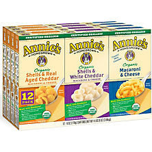 Annie's 12 pack case Organic Mac and Cheese Variety Pack 6 oz