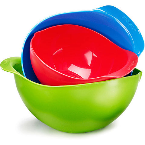 Preserve, 3 count, Mixing Bowls, Green, Blue, Red