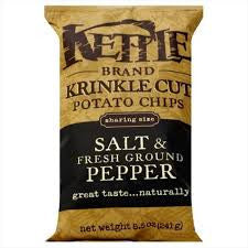 Chips Kettle 24 pack case Potato Salt & Fresh Ground Pepper 2 oz