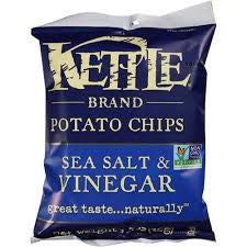 Chips Kettle 24 pack case Potato Sea Salt & Vinegar 2 oz