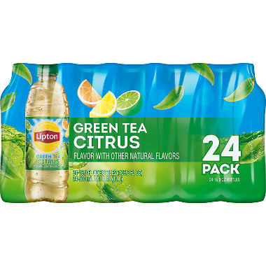 Lipton, 24 pack case, Green Tea with Citrus, 16.9 oz