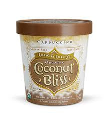 Luna & Larry`s Coconut Bliss, 8 pack case Ice Cream, Coconut, Cappuccino, Organic, Gluten Free, 1 pt