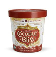 Luna & Larry`s Coconut Bliss, 8 pack case Ice Cream, Coconut, Chocolate Hazelnut, Organic, Gluten Free, 16 oz