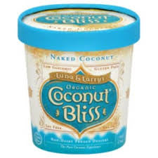 Luna & Larry`s Coconut Bliss, 8 pack case Ice Cream, Coconut, Naked Coconut, Organic, Gluten Free, 16 oz