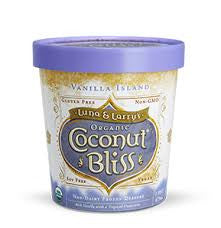Luna & Larry`s Coconut Bliss, 8 pack case Ice Cream, Coconut, Vanilla Island, Organic, Gluten Free, 16 oz