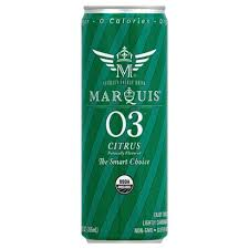 Marquis 12 pack case, Energy Drink,, Citrus Lime, Organic 12 oz
