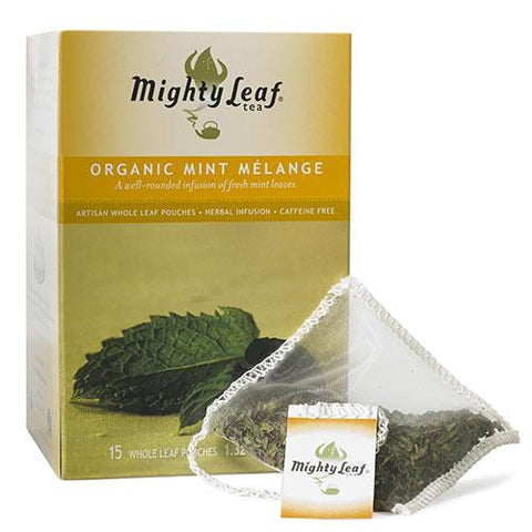 Mighty Leaf 1 pack 100 ct Herbal Mint Melange Organic