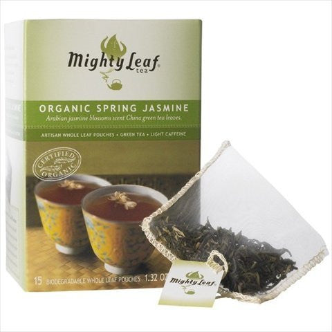 Mighty Leaf 1 pack 100 ct Green Spring Jasmine Organic