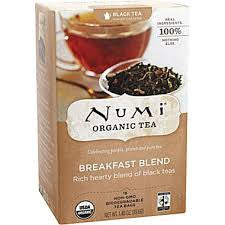 Numi Tea 6 pack case 18 ct Black Breakfast Blend Organic