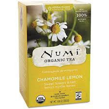 Numi Tea 6 pack case 18 ct Chamomile Herbal Organic Lemon Myrtle