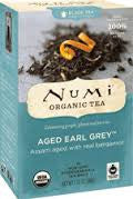 Numi Tea 6 pack case 18 ct Black Earl Grey Aged Organic