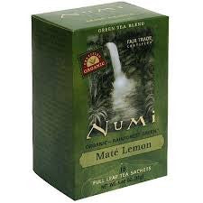 Numi Tea 6 pack case 18 ct Green Mate Lemon Organic