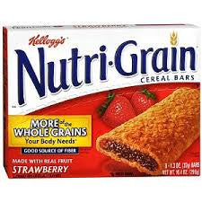 Bar Nutri Grain 96 pack case Cereal Strawberry Whole Grain 1.3 oz