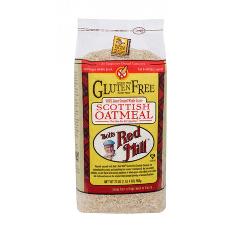 Bob`s Red Mill 4 pack case, Cereal, Oatmeal, Scottish, Gluten Free, 20 oz