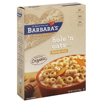 Barbara`s Bakery, 6 pack Cereal, Hole `n Oats, Honey Nut 10 oz