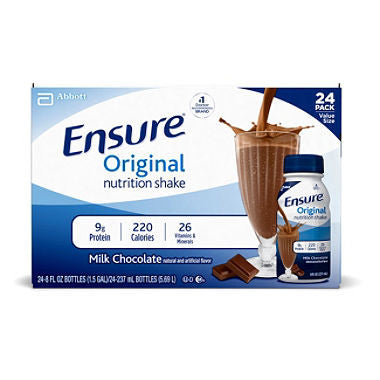 Ensure 24 pack case Original Nutrition Shake, Milk Chocolate 8 oz