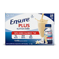 Ensure 24 pack Plus Homemade Vanilla Shake 8 oz