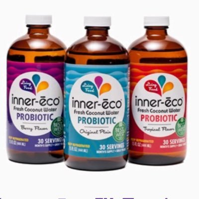 Inner-eco 6 pack, Water, Coconut, Berry, 15 oz