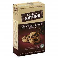 Back to Nature 6 pack case , Cookies, Chocolate Chunk 9.5 oz