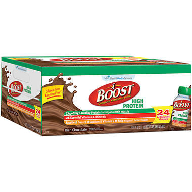Boost 24 pack case High Protein Drink, Chocolate 8 oz