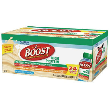 Boost 24 pack case High Protein Drink, Vanilla 8 oz