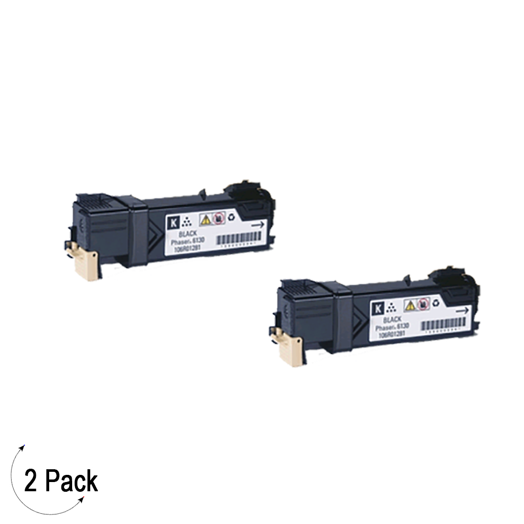 Compatible Xerox 106R01281 Black -Toner 2 Pack (106R01281)