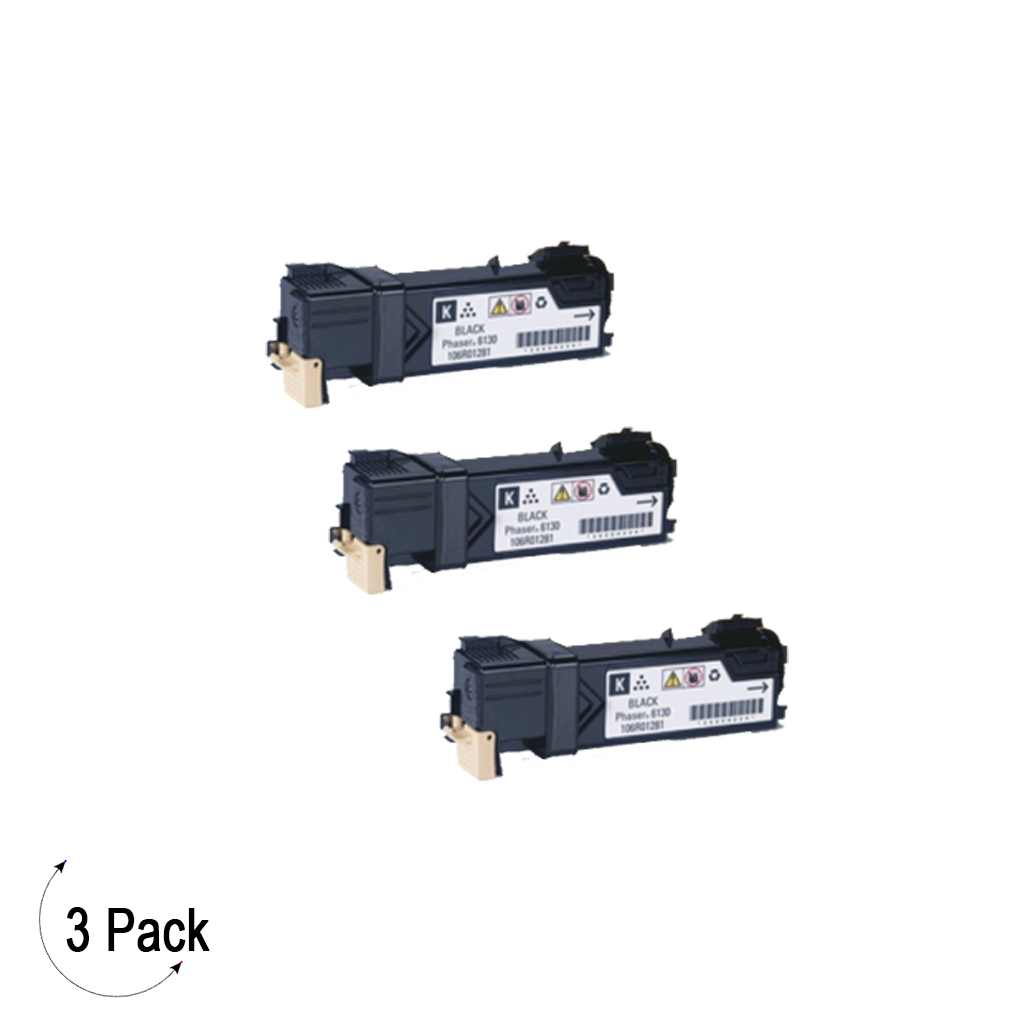 Compatible Xerox 106R01455 Black   -Toner 3 Pack (106R01455)
