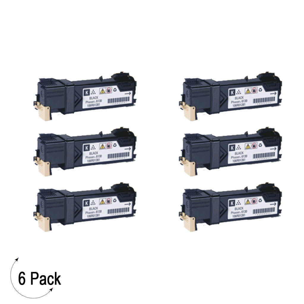 Compatible Xerox 106R01455 Black   -Toner 6 Pack (106R01455)