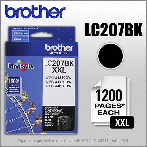 Brother LC 207 Black -original Ink