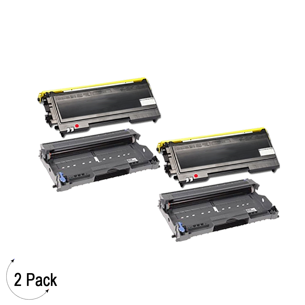 Compatible Brother TN-350 & DR-350 Toner Drum Combo Pack 2 Pack