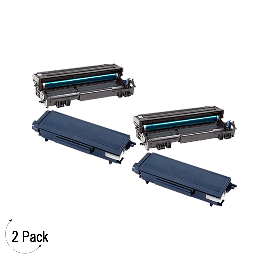 Compatible Brother TN580 DR 520 Toner & Drum Combo 2 Pack