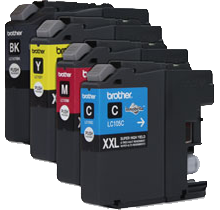 Compatible Brother LC107 LC105  Ink Cartridge BK/C/M/Y High Yield- Combo Pack