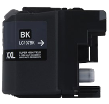 Compatible Brother LC-107BK Black Ink High Yield