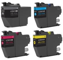 Compatible Brother LC3019 Extra High Yield Ink Set (Black, Cyan, Magenta, Yellow)