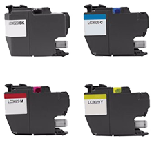 Compatible Brother LC3029 Extra High Yield Ink Cartridge Set Black Cyan Magenta Yellow