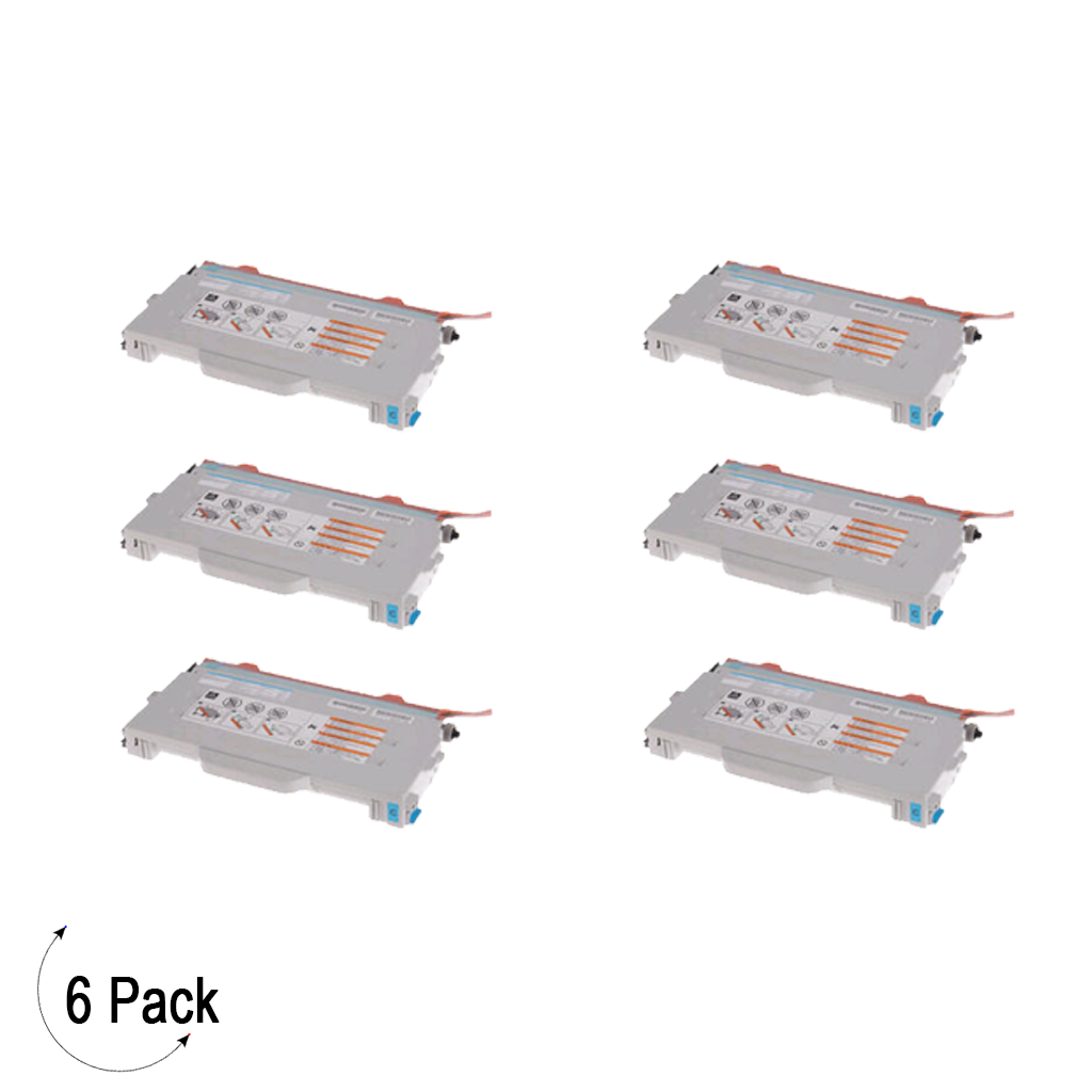 Compatible Brother TN 04C Cyan Toner 6 Pack
