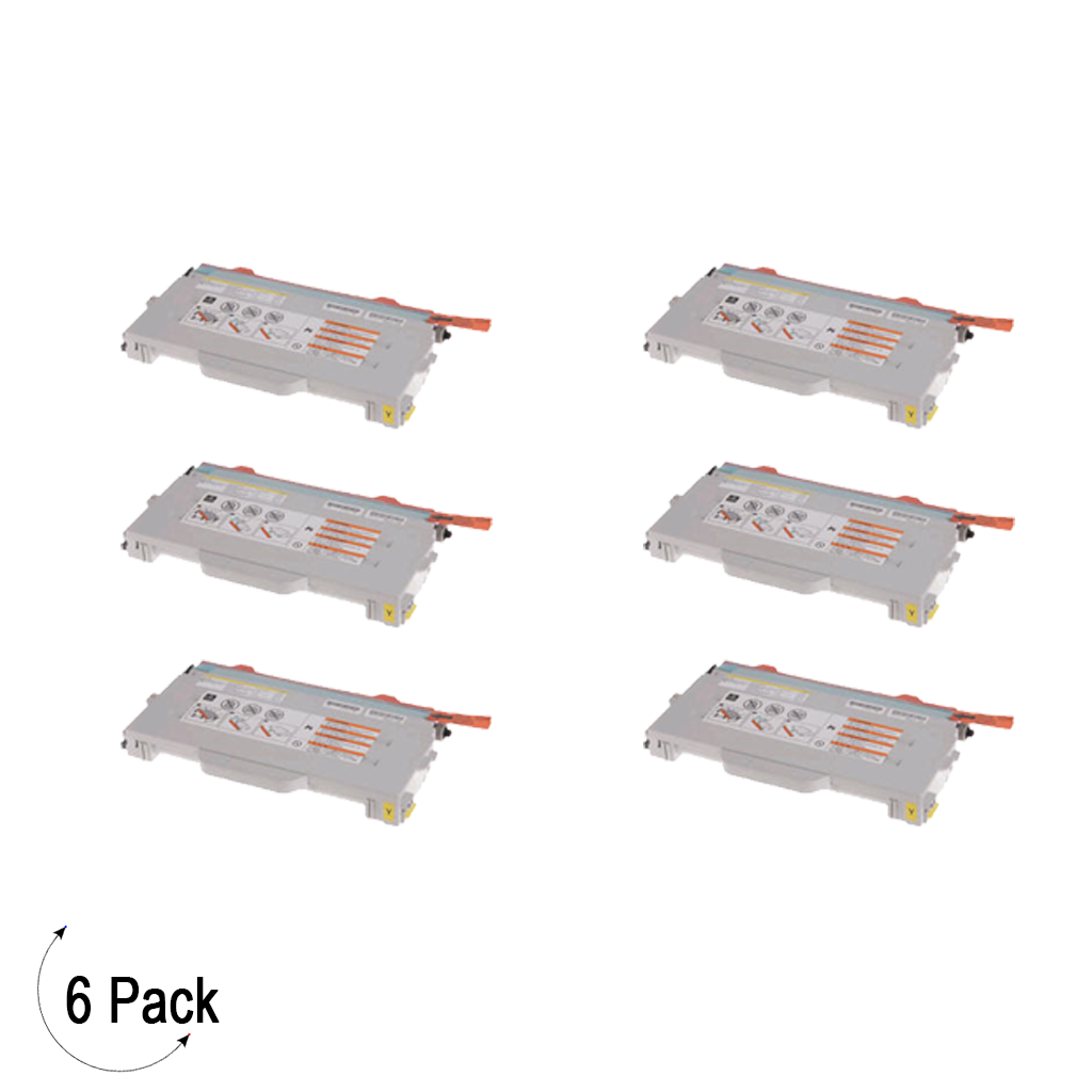 Compatible Brother TN 04Y Yellow Toner 6 Pack