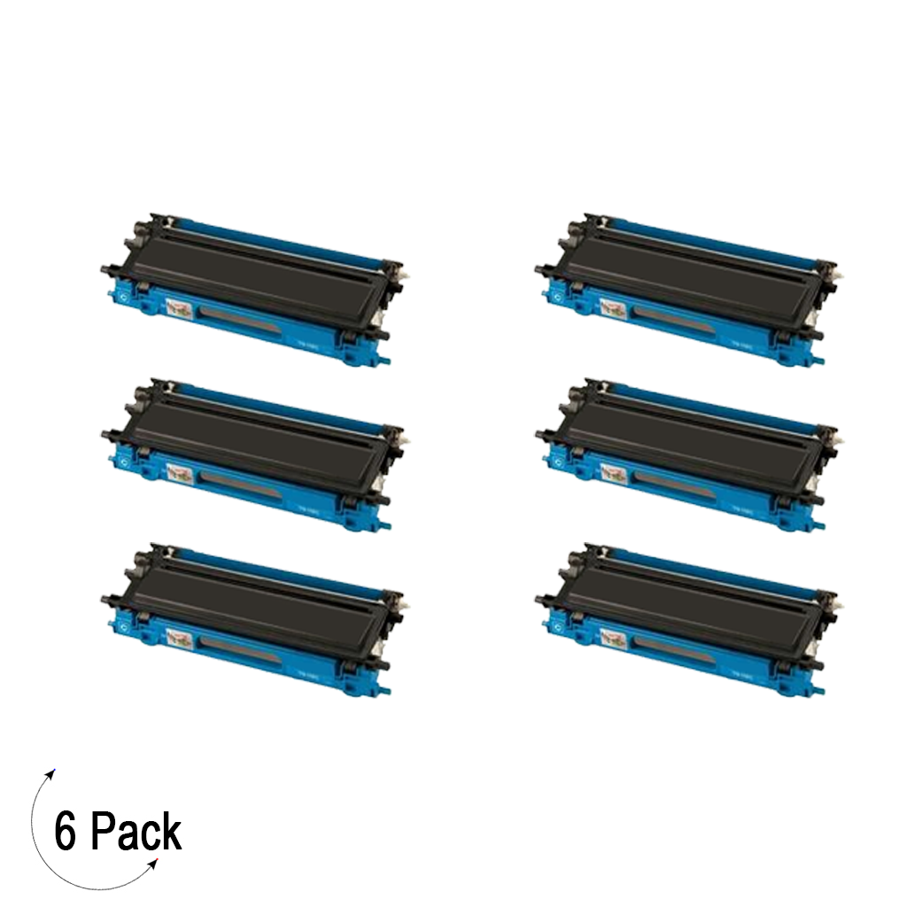 Compatible Brother TN 115 Cyan Toner 6 Pack