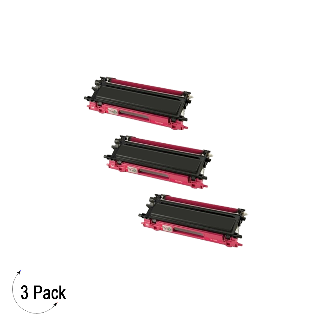 Compatible Brother TN 115 Magenta Toner 3 Pack