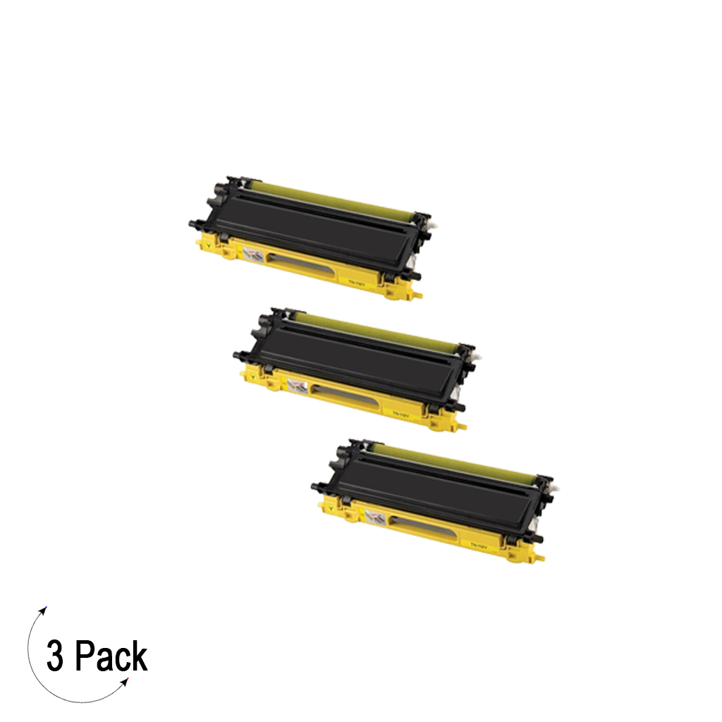 Compatible Brother TN 115 Yellow Toner 3 Pack