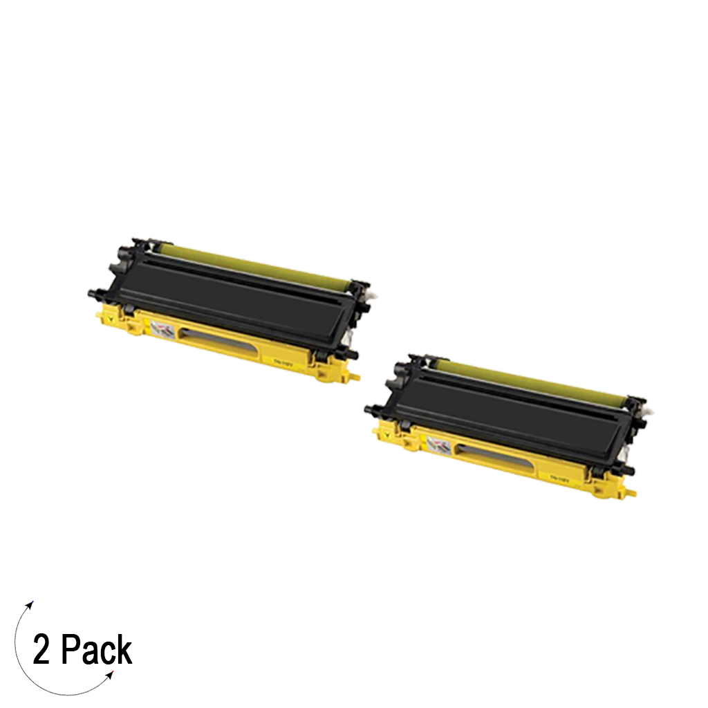 Compatible Brother TN 115 Yellow Toner 2 Pack