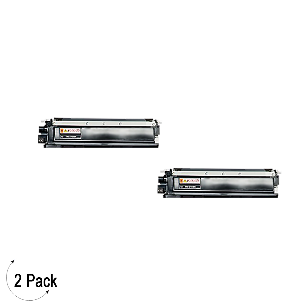 Compatible Brother TN 210 Black Toner 2 Pack