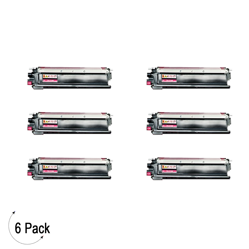 Compatible Brother TN 210 Magenta Toner 6 Pack