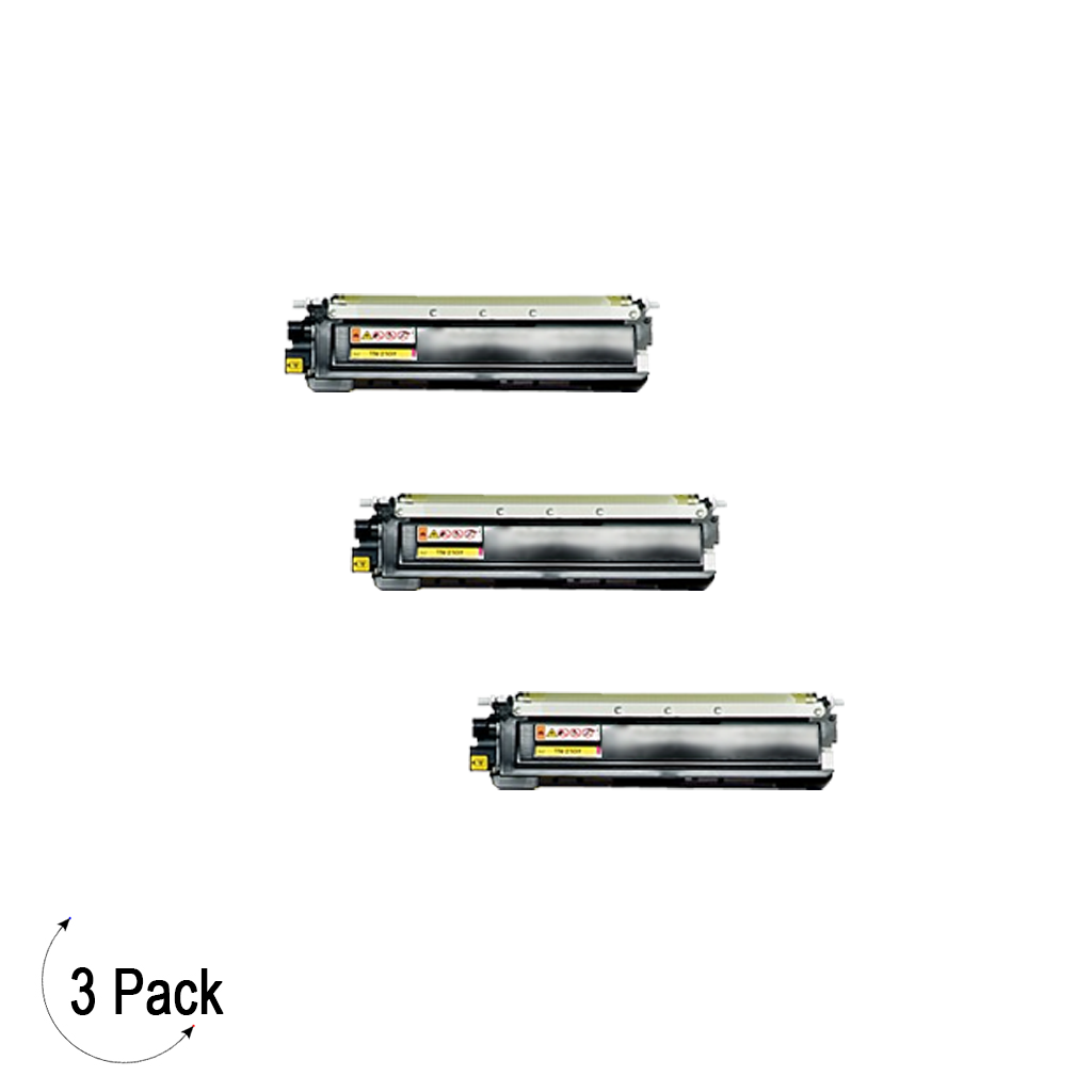 Compatible Brother TN 210 Yellow Toner 3 Pack