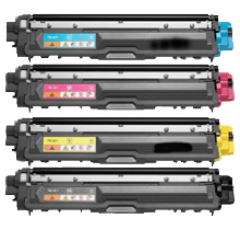 Compatible Brother TN-221 Toner Cartridge Set (Black/Cyan/Magenta/Yellow)