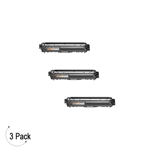Compatible Brother TN 221 Black Toner 3 Pack