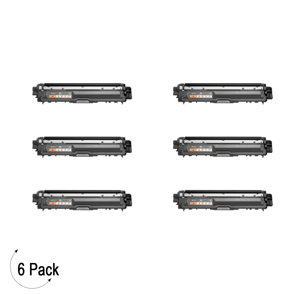 Compatible Brother TN 221 Black Toner 6 Pack
