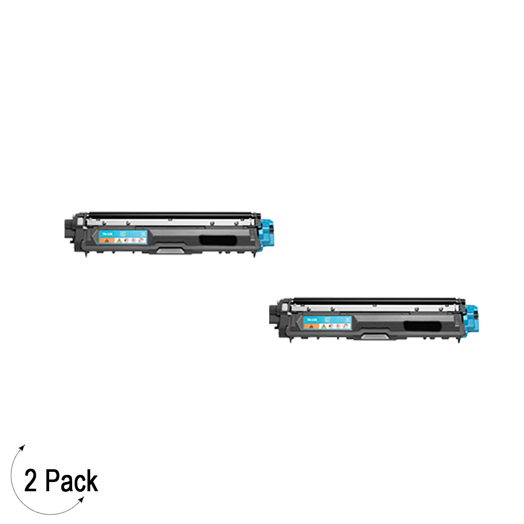 Compatible Brother TN 225 Cyan Toner 2 Pack